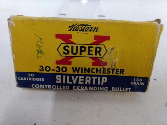 20 Rnd Box Winchester Super X 30-30 Silvertip