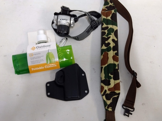 Rifle Sling-foldable Canteen-holster-headlamp