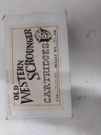 "15 Rnds 45-75 ""old Western Scrounger"" Reloads"