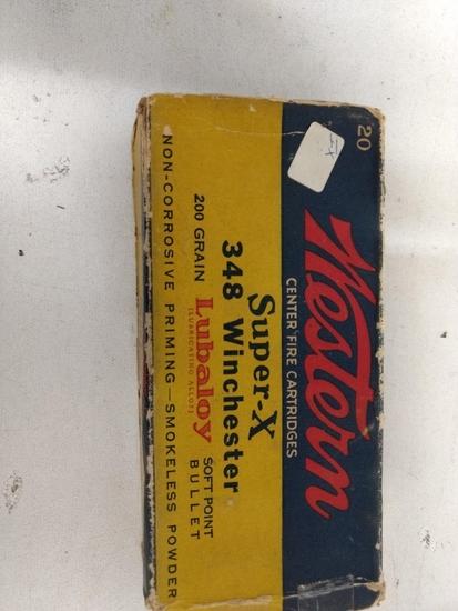20 Rnd Box Vintage Western Super X 348 Winchester