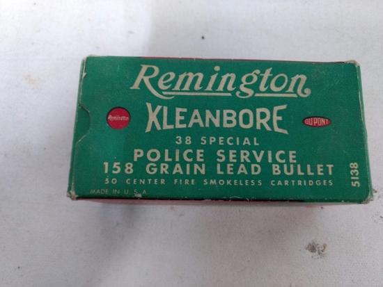 50 Rnd Box Vintage Remington Kleanbore 38 Spl. Pol