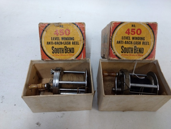 2 South Bend #450 Level Winding Reels