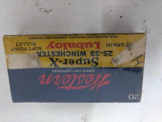 20 Rnd Box Vintage 25-35 Western Ammo