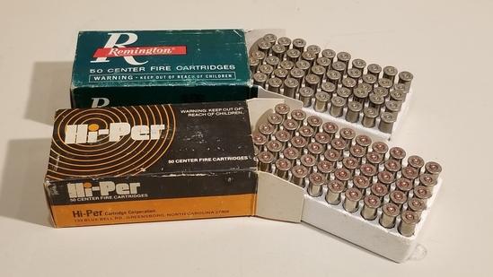2-50 Rnd Vintage Box 357 Mag Empty Nickle Casings