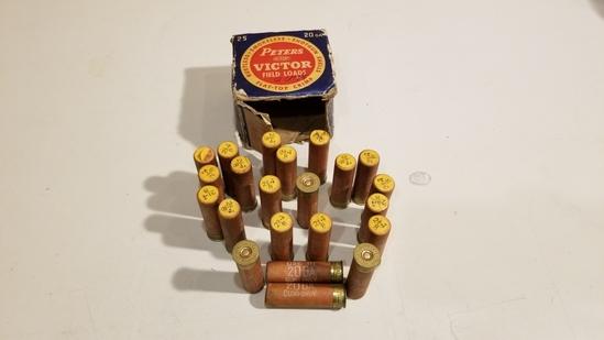 23rnds Vintage Box Peters 20ga 8 Shot