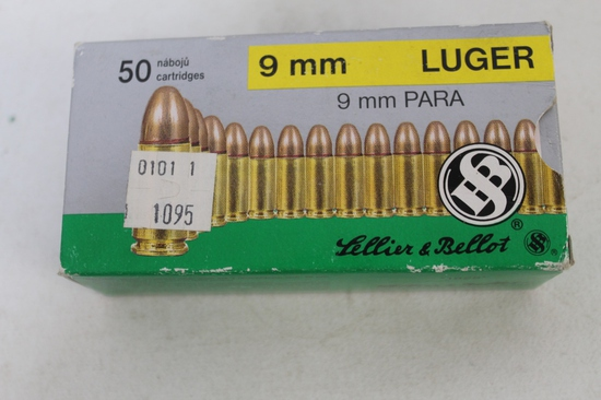 Lellier & Bellot 9mm Luger 115 Gr. Fmj