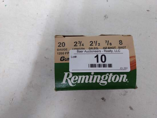 25 Rnds Remington 20ga 8 Shot