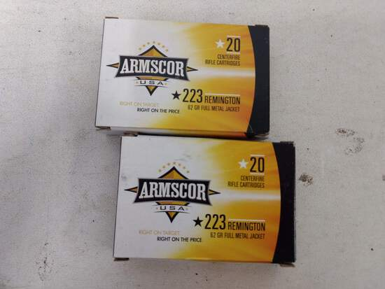 2-20 Rnd Box Armscor 223 62gr Fmj