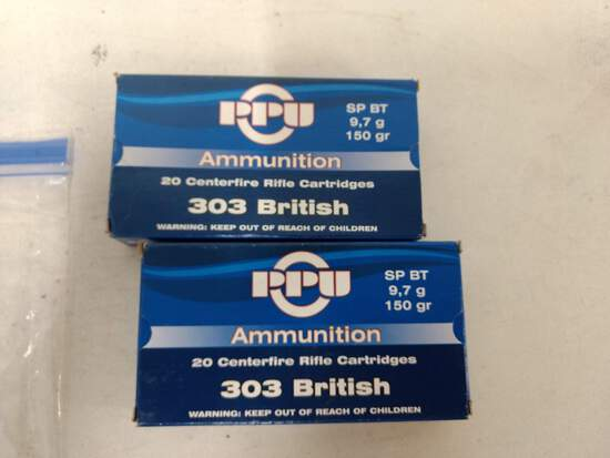 2-20 Rnd Box Ppu 303 Brit 150gr Sp Bt