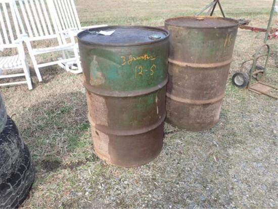 2 50 gal. Barrels