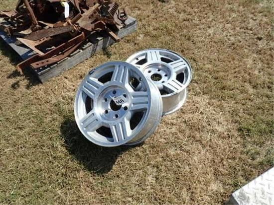 (2) 6 Lug Chevy Wheels