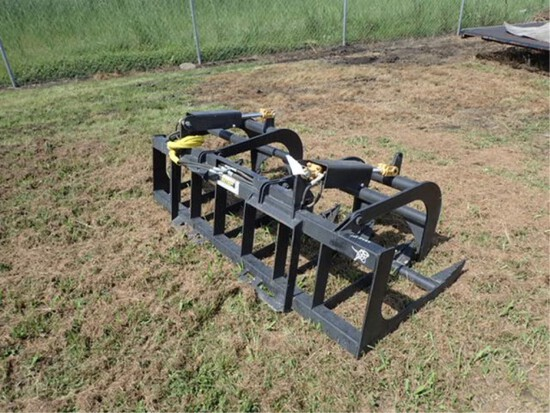 "78"" Skid Steer Grapple Rake"
