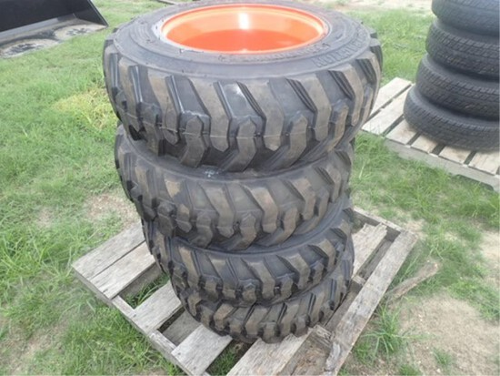 Set of 4 10-16.5 SKS 322 Tires & Rims