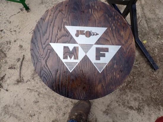 Stool with MF symbol