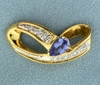 Tanzanite And Diamond Slide In 14k Yellow Gold