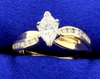 2/3 Ct Tw Marquise Diamond Ring In 14k Yellow Gold