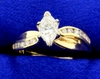 2/3 Ct Tw Marquise Diamond Engagement Ring In 14k Yellow Gold