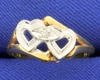 Diamond Double Heart Ring In 10k Yellow Gold
