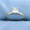 .84 Carat Princess Cut Diamond Solitaire Engagement Ring In 14k White Gold