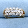 2.2 Ct Tw High Quality Cluster Diamond Ring In 14k Yellow Gold