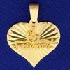 #1 Sweetheart Pendant In 14k Yellow Gold