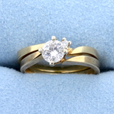 Matching Diamond Engagement Ring With Wedding Band Bridal Set In 14k Gold