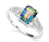 1.4ct Green Mystic Topaz Ring In Sterling Silver