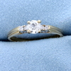 1/2ct Total Weight Diamond Engagement Ring In 14k Yellow Gold