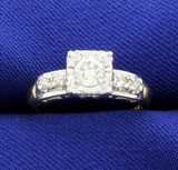 Vintage 1/2ct Tw Diamond Engagement Ring