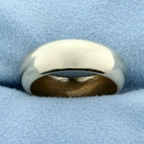 Woman's Wedding Band Ring In 14k Yellow Gold
