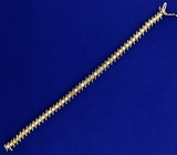 4ct Tw Diamond Tennis Bracelet In 10k Yellow Gold