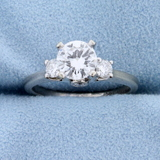 Over 1ct Tw Diamond Engagement Ring In 14k White Gold