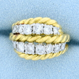 Vintage Van Cleef & Arpels 1ct Tw Diamond Ring In 18k Yellow Gold