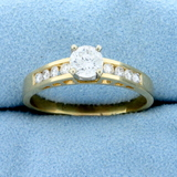 3/4ct Tw Diamond Engagement Ring In 14k Yellow Gold