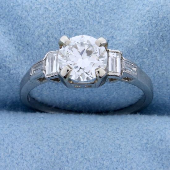 1.4ct Tw Diamond Engagement Ring In Platinum