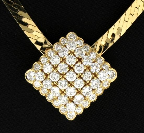2ct Tw Diamond Herringbone Link Necklace In 14k Gold