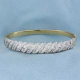 5 Carat Diamond Bangle Bracelet In 14k Gold