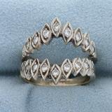 1/2ct Tw Diamond Ring Jacket In 14k White Gold