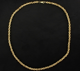 18 Inch Rope Chain Necklace In 14k Yellow Gold