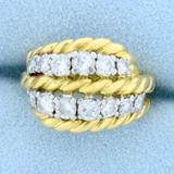 Vintage Van Cleef & Arpels 1ct Tw Diamond Ring In 18k Yellow Gold