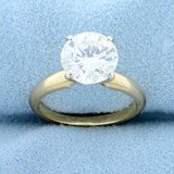 2 Carat Diamond Solitaire Engagement Ring In 14k Yellow Gold Setting