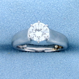 Over 1ct Solitaire Diamond Engagement Ring In Platinum