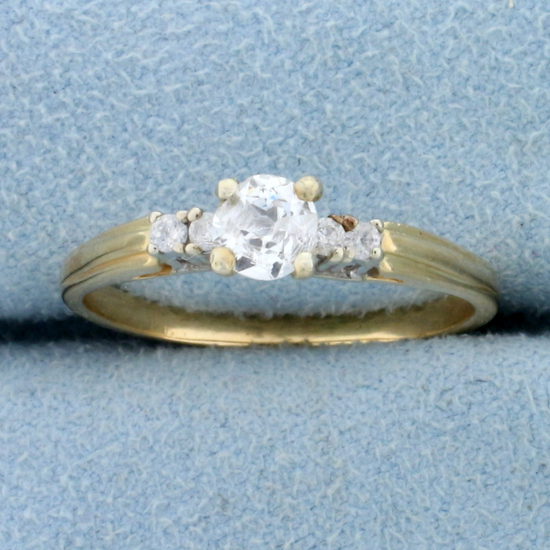 1/2ct Tw Diamond Engagement Ring In 14k Yellow Gold