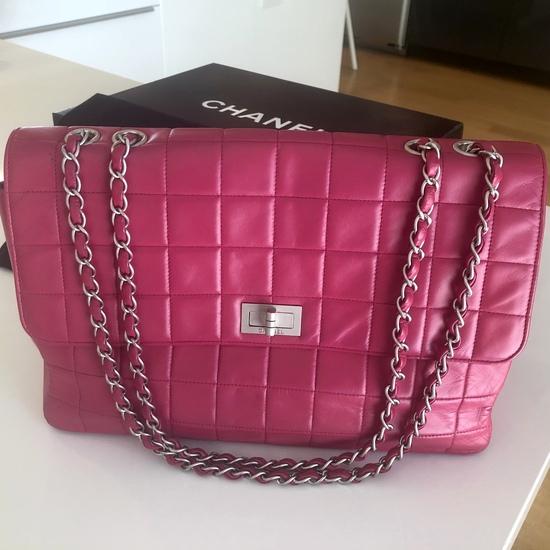 Genuine Chanel Bag Rare Jumbo Hot Pink