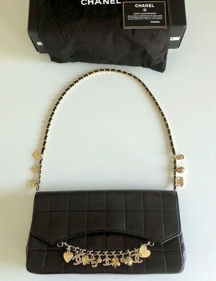 Genuine Chanel Bag Lucky Charm Metallic Finish