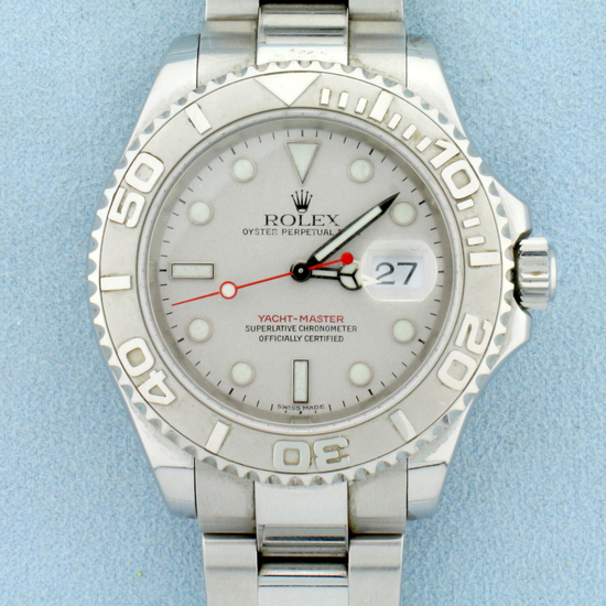 Rolex Yacht Master 40mm Steel And Platinum Watch With Oyster Band