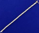1.25ct Tw Diamond Tennis Bracelet In 14k White And Yellow Gold