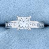 1.75ct Tw Princess Cut Diamond Engagement Ring In Platinum