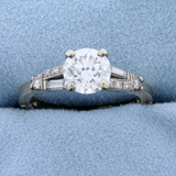 1 1/2ct Tw Diamond Ring With Adjustable Shank In 14k White Gold