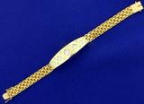 Designer 3ct Tw Princess And Round Diamond Bracelet In 18k Yellow Gold